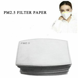 Filtre PM2,5 pour Masque Anti Haze Masque bouche Filtre Pad 5 couches Replaceable Activated Carbon Filter Masques Insérer CCA12001 300pcs