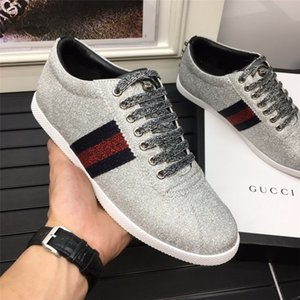 gucci Luxe Pas Cher Designer Hommes Casual Chaussures Pas Cher Meilleure Qualité Hommes Mode Sneakers Partie Plate-Forme Chaussures Velours Chaussures Sneakers A063