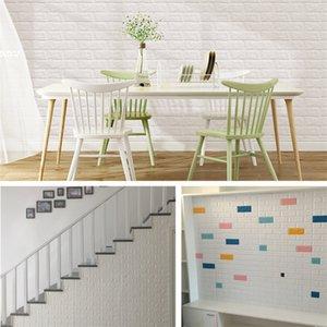 Three-Dimensional muro Adesivi Bag anticollisione morbido Foam Imitazione del mattone Wallpaper Pattern autoadesiva impermeabile