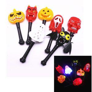 Halloween Bacchetta magica luminosa Bambini Horror Zucca Strega Fantasma Demone oggetti di scena Halloween Party Cosplay Giocattoli LED