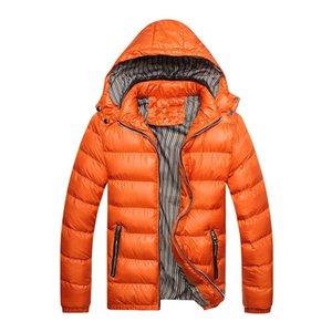 Fashion 2019 Men Hooded Parkas Winter Jackets Autumn Warm Coats Men Casual Long Sleeve Hoody Thicken Outerwear Windbreaker Coats