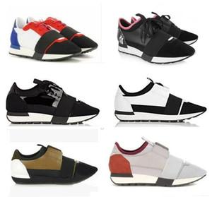 Moda Marka Tasarımcısı Sneaker Erkekler Kadınlar Günlük Ayakkabılar Gerçek Deri sivri yarışı Runner Ayakkabı Outdoor Eğitmenler Mesh ücretsiz gönderim