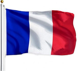 Francia French Flag French National Flag France Paese Bandiera 3x5ft stampato del poliestere ottone Occhiello con cuciture doppie Indoor