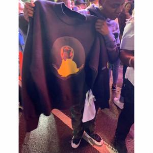 19FW Hip Hop Jésus est le Roi de Chicago Planche à roulettes Toison Puff Imprimer Pull cool Pull Hommes Femmes Coton sweatshrits Casual