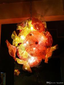 Interior colgante Led iluminación de techo Decoración japonesa del restaurante Tabla araña de cristal de Murano bajo techo de la lámpara