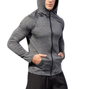 Yeni Erkekler Hoody Kazak Coat Top Running Hoodie Ceket Casual Spor Spor Egzersizi Zip
