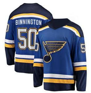 남성 세인트 루이스 블루스 Binnington 광신자 블루 분리형 50 Binnington 홈 저지, 20 STEEN 91 타라 센코 (10) SCHENN 하키 저지