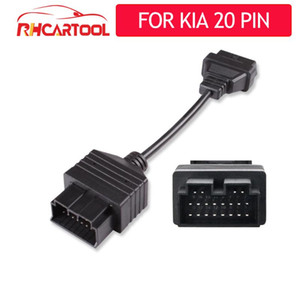 For Car accessories OBD2 60 100 cm Extension cable Connector Adapter for kia 20 Pin to 16 Pin Auto Diagnostic Cable kia