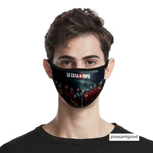 Banknote House Season 4 Money Heist 3d mask dust-proof and haze-proof printing ice silk fabric washable
