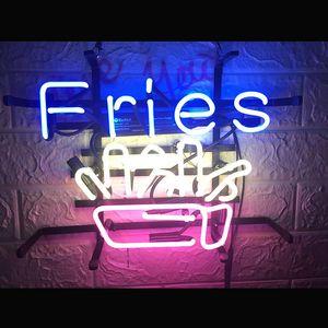 Acrylic Luminous Fries Neon Sign Light Beer Bar Pub Decor Home Room Wall Poster Art Visual