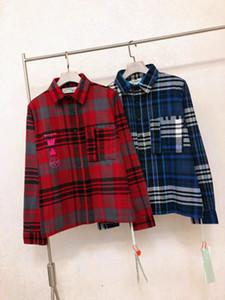Neue Luxus-Männer Porträt Pfeil Shirt OW wischDruck Männer und Frauen mit der gleichen Absatz Baumwolle Langarmhemd