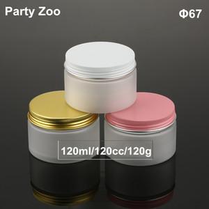 4oz PET Plastik Buzlu Vida Alüminyum Kapak 120g Losyon Kavanozlar Packaging ile Konteynerleri Kozmetik Ambalaj boşaltın