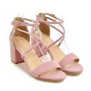 Sexy2019 Traversant Fasciola Paquet Toe Sandals Chaussure Grossier Avec Chaussures Femmes Occupation G51