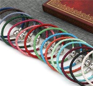 argento S925 bracciale in pelle stile unico con il braccialetto europeo Pandora gioielli stile accessori perle pendenti di tendenza