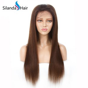 Melhor Venda # 4 Reta Remy Human Lace cabelo dianteira completa Lace Wigs frete grátis
