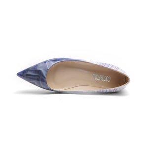 YECHNE мода весна осень Белая платформа балетная обувь плюс размер синий фиолетовый оранжевый Женская обувь на платформе острым носом квартиры