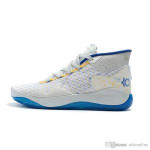 Ucuz erkek kutu boyutu ile Beyaz Mavi yeni kadın 90s çocuklar kd12 Kevin Durant, 12s spor ayakkabısı tenis 12 basketbol ayakkabıları Warriors kd 5 13