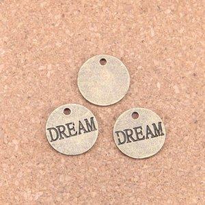14pcs Charme-Platten träumen 16mm Antike-Anhänger, Weinlese-Bronzeschmucksachen, DIY für Armbandhalskettenart-