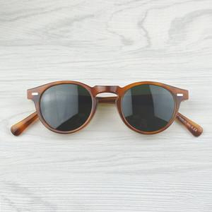 All'ingrosso-Gregory Peck marca del progettista degli uomini le donne gli occhiali da sole Oliver Vintage Polarizs OV5186 retrò Occhiali da sole oculos de sol OV 5186
