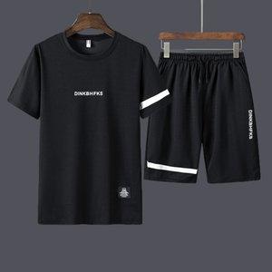 dos homens Treino Gym Fitness badminton Esportes Roupas Terno executando Jogging sport wear sportswear conjunto Exercício Workout 2 Pcs / Set