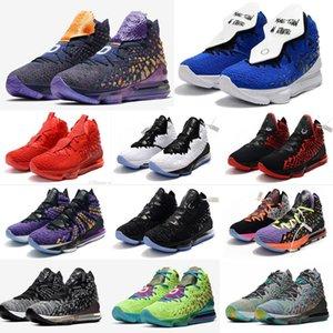New Mens lebron 17 Basketballschuhe zum Verkauf Mehr als die Anthlete Blau Orange Versprechen Multi Monstars Lebrons 17s XVII Turnschuhe