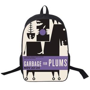 Garbage backpack For plums daypack Casual street schoolbag Hot picture print rucksack Sport school bag Outdoor day pack
