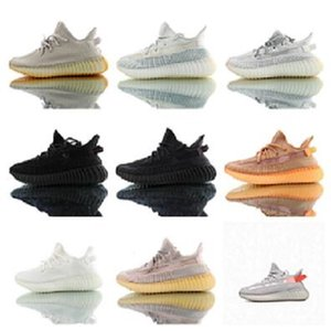 2020 Children's shoes Kanye West Black Static Reflective for sale Child kids running shoes sales Wholesale prices size US8C-US2Y