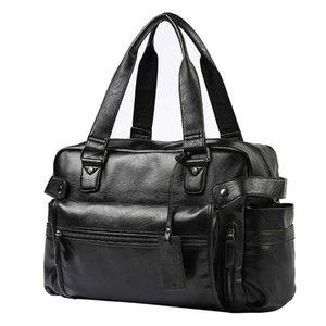 Duffel Bags Мужчины Большая Емкость Посланник Уикнды Dufle Ноутбук Сумки Мужской Высокое Качество Толстая ПУ ПУТ