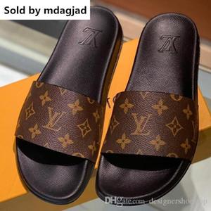 Zapatillas Mule Waterfront más nuevas para hombres Sandalias planas de diseño Zapatillas Verano Suela de goma flexible Zapatillas con caja