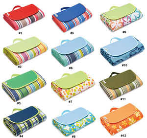 Grassland or Beach Picnic Mat Moisture-proof Camping Tent Pad Outing Game Picnic Mats 600D Oxford Cloth 21 Pattern designs 3 Sizes Available