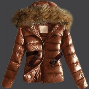 Simulation Big Wool Tie Hat Veste en coton Manteau 5XL Europe et en Amérique automne et veste femmes Manteaux d'hiver manteaux de fourrure imitation