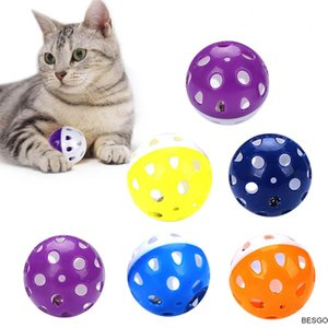 Pet Toys Hollow Plastic Ball Pet Cat Ball Toy With Small Bell Cute Bell Voice Plastic Interactive Ball Tinkle Puppy Playing Toys DBC BH2851