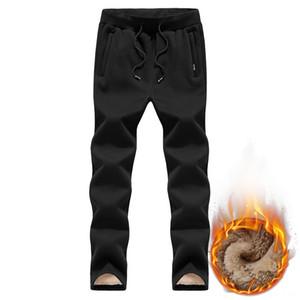 2019 Thick Fleece Jogger Mens Cotton Men's Pants Men's Clothing Trousers Male Winter Warm Velvet Sweatpants Tracksuit Joggers LoosePencil Pa