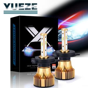 Yueze X8 Series 2 Pcs H7 H8 9 11 9005 9006 9012 5202 H4 H13 9007 9004 LED Headlight Bulbs 6500K 12V Add Free Chuck