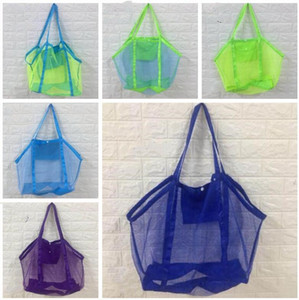 شاطئ حقيبة يد كبيرة الحجم للأطفال الأطفال الرمال منظمة حقائب الصرفة حقائب اللون البيئة التسوق لعبة حقيبة التخزين الرئيسية منظمة WY213