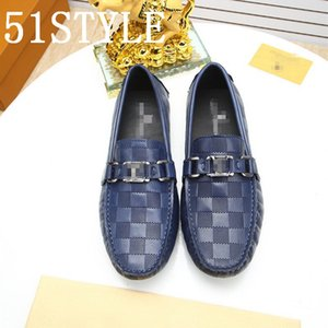 19FS luxurious Men Peas Shoes Pointed Toe Mens Formal Shoe brown Elegant Simple Suit Gentleman Loafers Flats business Leather Size 38-45