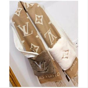 세련된 새로운 고품질의 편지 꽃 포켓 여자의 모직 스카프는 이중 따뜻한 스카프 목도리를 즐길 수