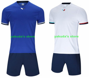 atacado personalizado Malha Discount Desempenho dos homens esportes baratos roupas fã personalizado Soccer Jersey Define Com Shorts Futebol de roupas