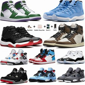 Nike Air Jordan 1 1s Zoom Racer Blau Travis Scotts 1 Basketball-Schuhe 4s What The Cactus Jack White Cement 11 Pantone Concord 45 Trainer Männer Turnschuhe Bred