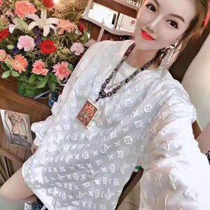 algodón de alta calidad de impresión de la marca de color sudaderas 3D monograma en el largo de manga larga camisetas versión hombres y mujeres fáciles