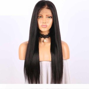 Malaysian Silky Straight Lace Front Human Hair Wigs For Black Woman 150 Density Glueless Full Lace Wigs with Baby Hair Natural Hairline