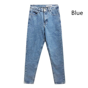 Nueva moda Nuevas llegadas Mujeres Jeans de cintura alta OL Pantalones de mezclilla Pantalones Mamá Pantalones vaqueros elásticos con lápiz para mujer Venta caliente