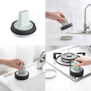 Spugna pennello Vasca Bagno Scovolini per pulizia Rust Pulire con manico Rub Pot Cucina Accessori Scrub Strumenti 2 4yd B2