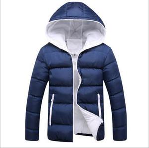 Men's Down & Parkas 2021 Fashion Men Winter Jacket Coat Hooded Warm Mens Casual Slim Fit Student Male Overcoat