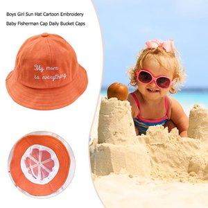 Boş Tatil Sun Erkekler Kızlar Rafine Special Sevimli Nakış Mektupları Havza şapka Caps Çocuk Kepçe Hat Yeni ürün # 38 Caps