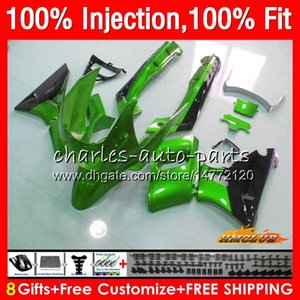 Injection Pour KAWASAKI ZZR400 vert métallique ZZR400 99 00 01 02 03 04 05 06 07 85HC157 ZZR 400 1999 2000 2001 2002 2003 2004 2005 2007 Carénage