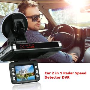 2 em 1 Car DVR radar do carro detector de velocidade Laser Video Recorder Camera Traffic Alert