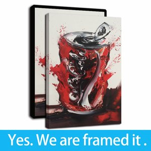 Framed Artwork Watercolor Cans Graffiti Abstract Art Oil Paintings HD Print on Canvas Wall Art Paintings Picture Poster for Home Decor