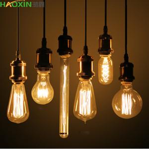 Haoxin Edison Ampoule E27 de lampe vintage lampe incandescente 40W Pendant Light rétro éclairage de plafond Lampadas Ampoule Filament