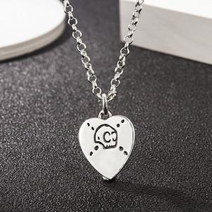 s925 sterling silver elf necklace love pentagram skull skull pendant necklace retro trend hip-hop men and women heart-shaped necklace